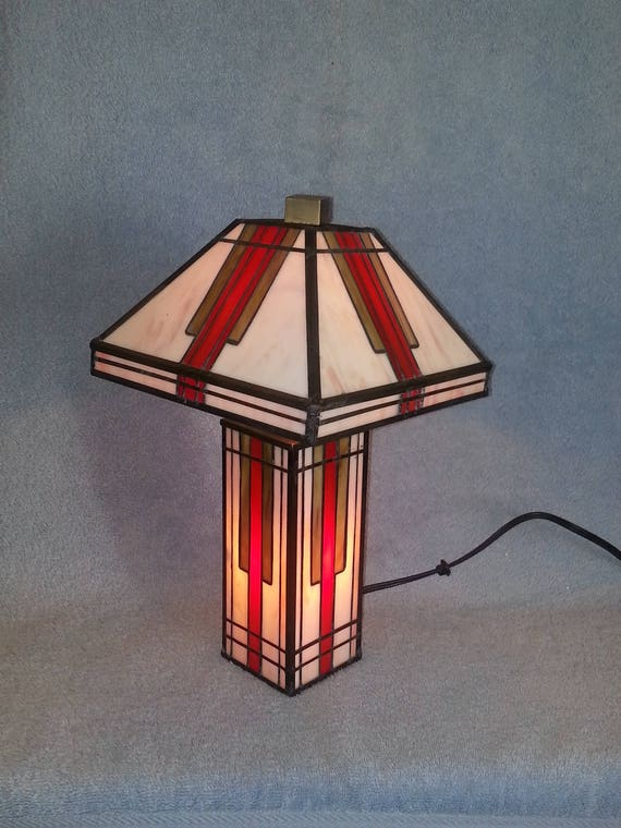 stained glass lamp mission style up and down lamp. Black Bedroom Furniture Sets. Home Design Ideas