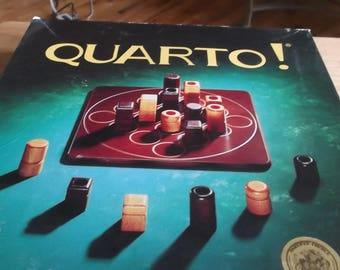 1993 Quarto Game Replacement Pieces Light Wood