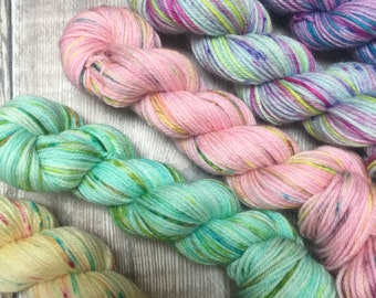 WGLY Taster Set of minis - 20grams 75/25% Superwash merino / nylon  4 ply wool