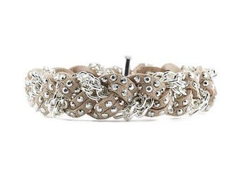 NEW Braided Bracelet in Silver Taupe