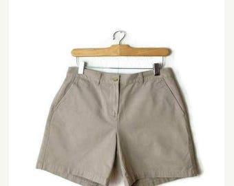 ON SALE Ralph Lauren Simple Beige Cotton Shorts from 90's/W28*