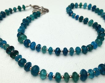 Matte my apatite necklace