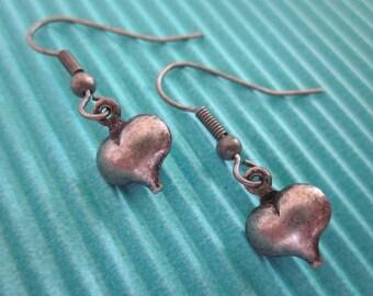 The Tin Man Heart Earrings