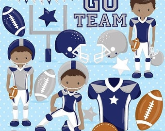80% OFF SALE American football clipart commercial use, football vector graphics, super bowl digital clip art, digital images - CL1008