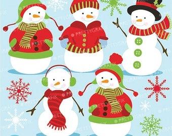 80% OFF SALE 80 Percent 0FF Sale Snowman clipart commercial use, vector graphics, digital clip art, digital images  - Cl584