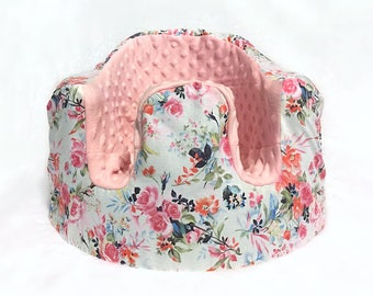 Watercolor Floral and Light Pink Bumbo Seat Cover