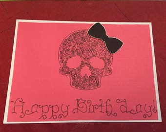 Candy Skull Birthday Card