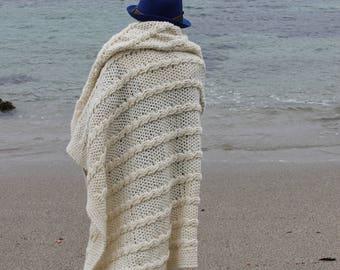 Crochet Cable Aran Blanket Pattern