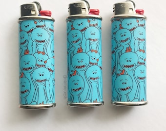 Rick and Morty Mr. Meeseeks Metal Lighter Case