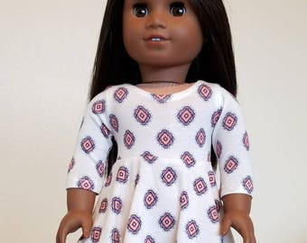 Skater Dress for American Girl  and other 18 inch dolls by The Glam Doll
