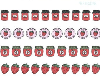 Strawberry Jam || Planner Stickers