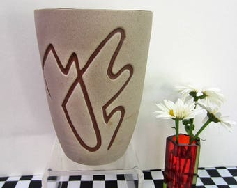 Mid Century Modern Pigeon Forge Tennessee Abstract Pottery Vase Retro!
