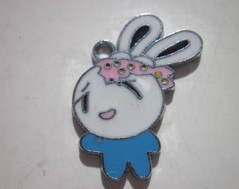 3 cm (84-coloured metal rabbit charm