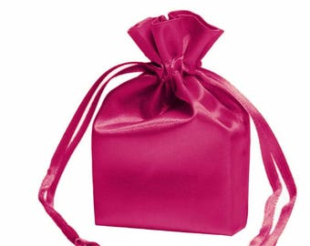 Large Hot Pink Satin Gift Bag