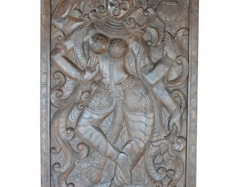 Vintage Hand Carved Durga Goddess SHAKTI Barn Doors Indian Divine Eclectic Decor FREE SHIP Early Black Friday