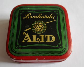 1930's German Leonhardi Alid Typewriter Ribbon Tin with Jewish Star/Star of David
