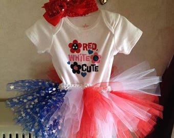 infants patriotic tutu set