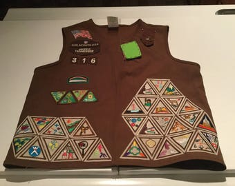 Girl Scout Vest, Brownie Scout Vest , Middle Tennessee