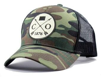 Homeland Tees Colorado Arrow Hat - Army Camo Trucker