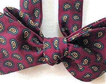 Silk Bow Tie for Men - Advocate - One-of-a-Kind - Handcrafted, Self-tie - Free Shipping