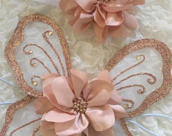 Rose Gold Fairy Wing Set