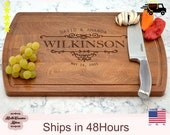 Personalized Newlywed Mementos, Wedding Bridal Shower Gift, Wooden Engraved Cutting Board, Wedding Gift, Couples Gift, Wood Butcher Block