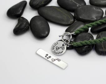 I Love My Soldier Hand Stamped | Custom | Boot Band Bracelet