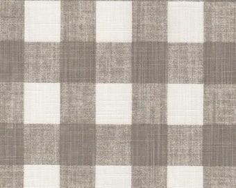 Buffalo Check Curtains. 2 Panels of 50x84. Linen Grey Ecru Check Curtains. Bedroom Curtains. Custom Curtains. Home Decor.