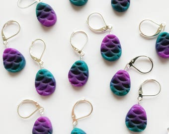 Mermaid Scale Stitch Markers. Universal for knitting and crochet.  Ready to ship