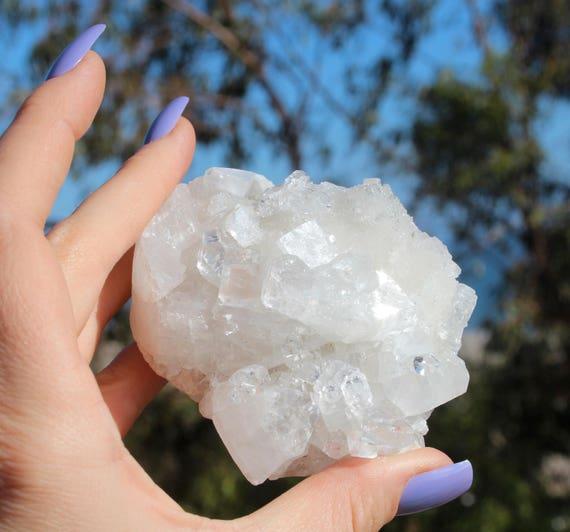 Crystal cluster - apophyllite crystal - mineral specimen - display crystal