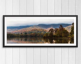 Cove Lake in the Fall - Panoramic Print