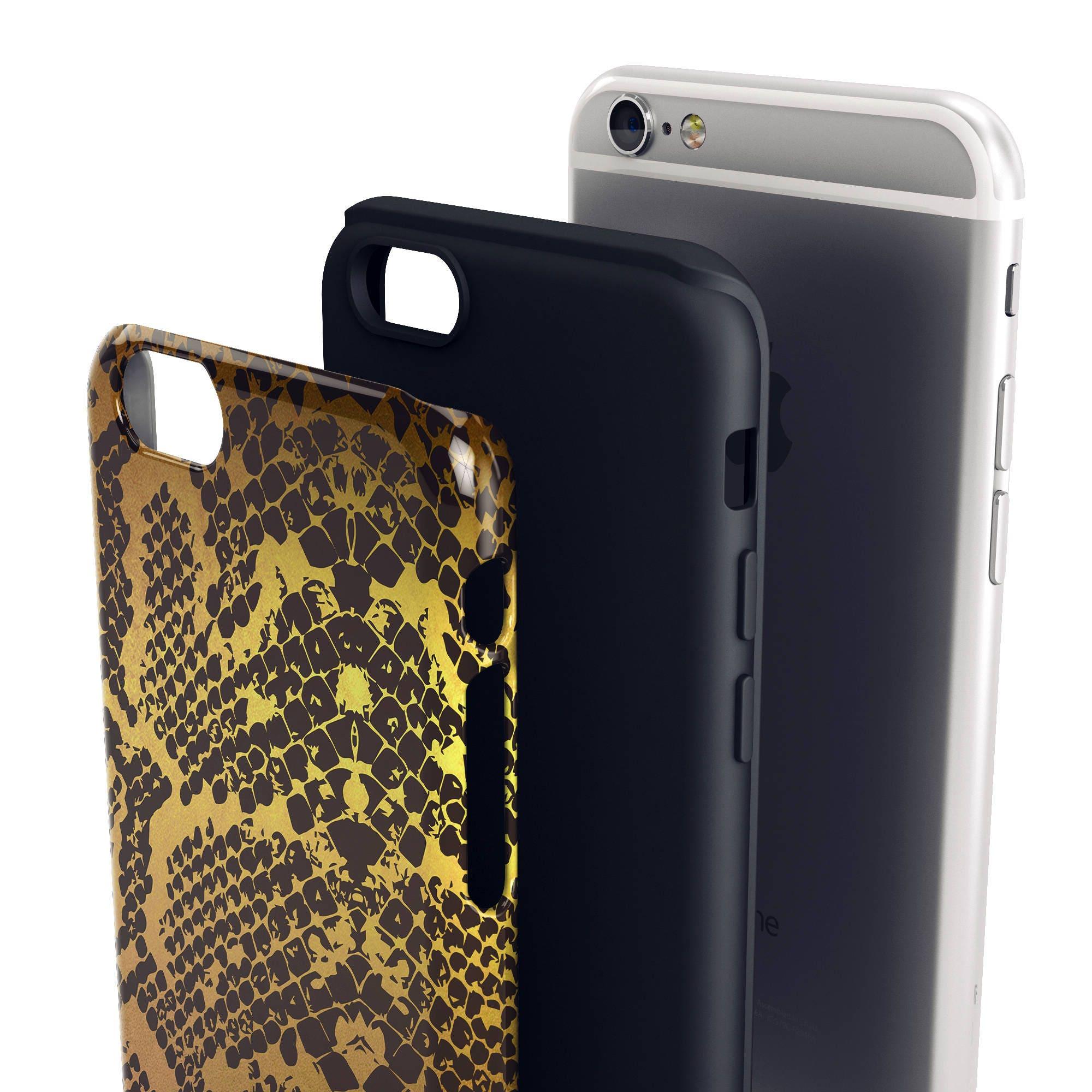 Gold Animal Print, Snake, Anatomy Fun Cool Unique Apple 5 5S 6 6S 8 ...