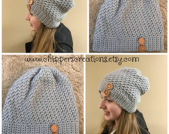 Crocheted Slouchy Hat - Slouch Hat