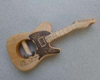 Guitar Rattle,Music Lover Gift,Fender,Maple Wood Rattle,Bruce Springsteen, The Rolling Stones,Baby Shower Gift,Newborn Gift,Led Zeppelin,