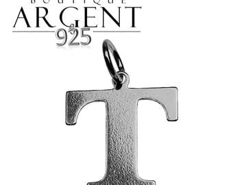 Silver 925 charm letter T initial name