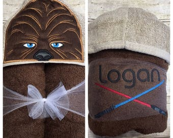 Star Wars Baby Chewy Hooded Towel/ Star Wars Baby Shower Gift/ Star Wars Baby Girl/ Star Wars Baby Boy/ Star Wars Costume/ FAST SHIPPING