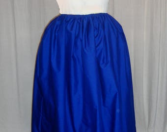 18th Century Woman's Solid color Petticoat - Royal Blue