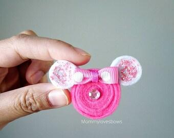 Minnie Mouse Pink Glitter