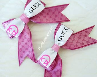 Double Bows Pink Clips