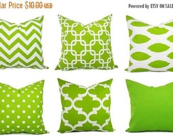 15% OFF SALE Green Lumbar Pillow Cover - 12 x 16 or 12 x 18 Inch Green Lumbar Throw Pillow - Green Lumbar Pillow - Lumbar Pillow - Green Pil