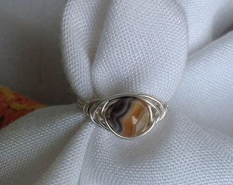 Laguna Lace Agate Sterling Silver ring size 5