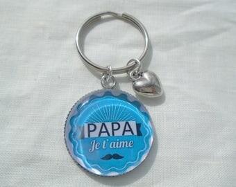 I love you dad keychain