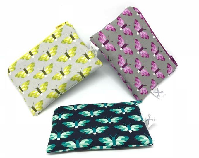 Mini zipper pouch Butterflies