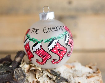 Personalized Stocking Christmas Ornament (Up to 5 Family members)