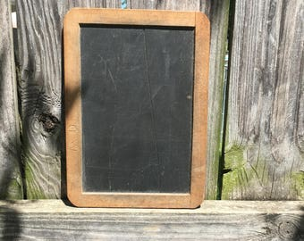 Primitive Slate Chalkboard For Individual Student One Room Schoolhouse Learning