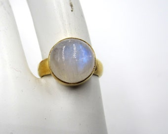 Vintage gold plate over sterling silver amethyst ring Size 9