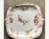 FREE SHIPPING - Caldwell & Co., Philadelphia - Royal Crown Vintage Flowered Plate with Gold edges - Vintage China - English China -