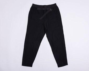 HELMUT LANG Belted Black Pants / Joggers / Slacks