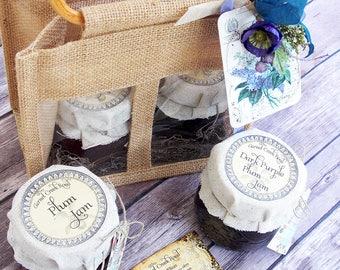 Jam Gift Basket ~ Plum Jam ~ Jam Gift ~ Hostess Gift ~ Homemade Jam ~ Plum Preserves