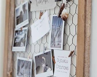 Memo Board/ Girl Workspace / Wire Mesh Memo Board/ Chicken Wire Board/  Office Organization/ Notice Wire Board /